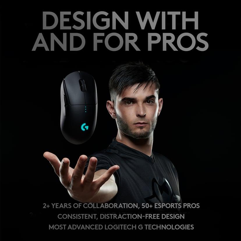Logitech Gaming Mouse G Pro Wireless 16,000dpi Mus Trådløs Sort