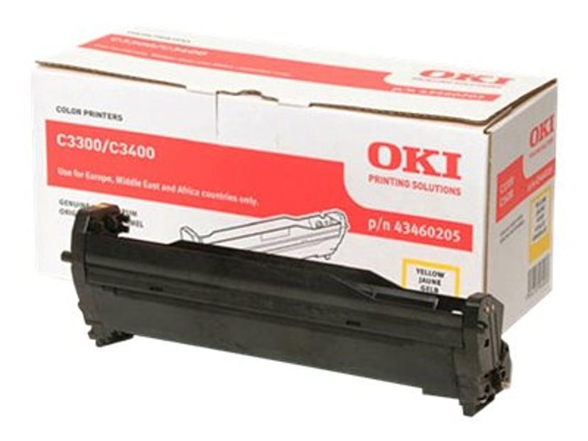 OKI Tromle Gul - C3300/3400