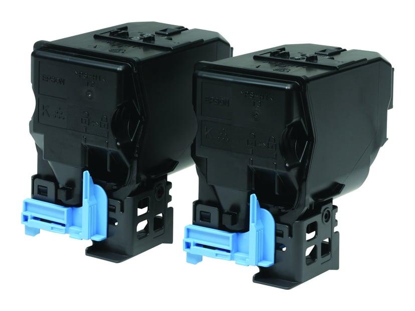 Epson Toner Svart 6k - AL-C3900DN/CX37, 2-Pack