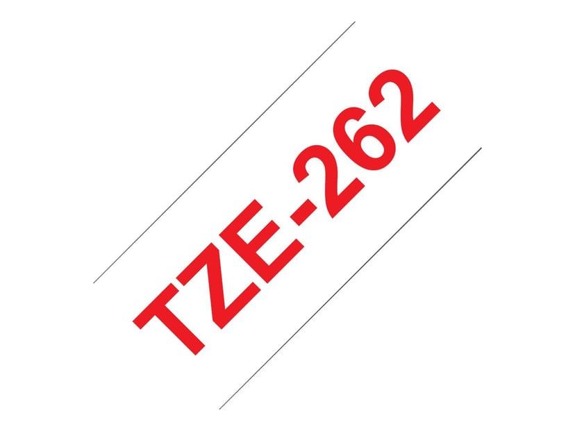 Brother Tape TZE-262 36mm Röd/Vit
