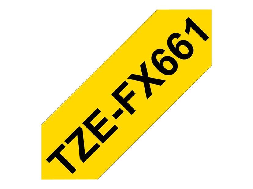 Brother Tape TZe-FX661 36mm Svart/Gul Flexible