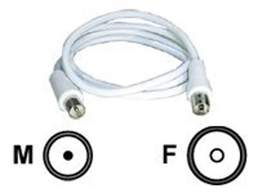 Deltaco Antennekabel 7m IEC-kobling Hann IEC-kobling Hunn