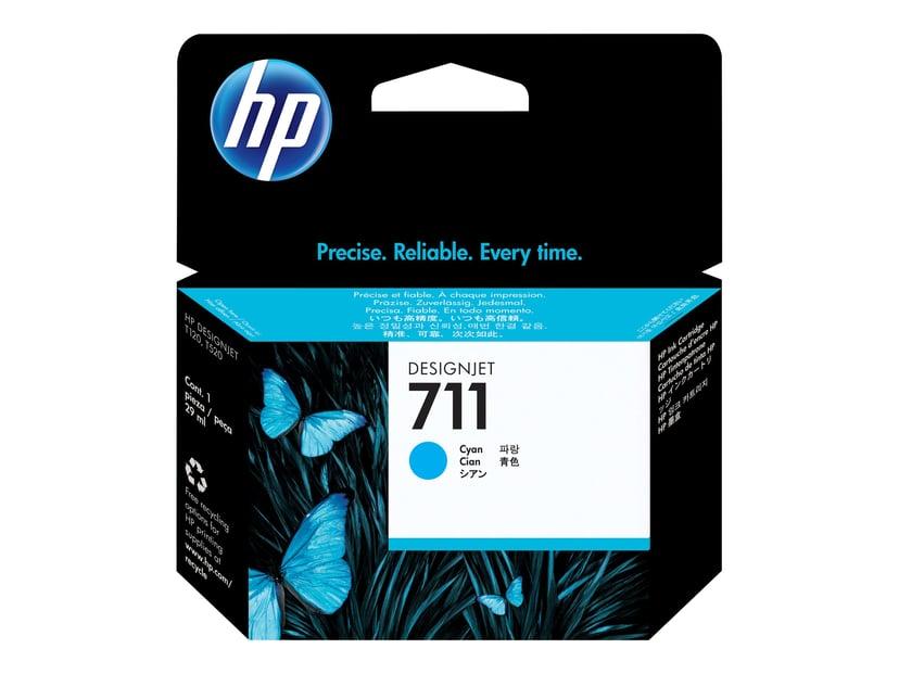 HP Blæk Cyan 711, 29ml - DJ T120