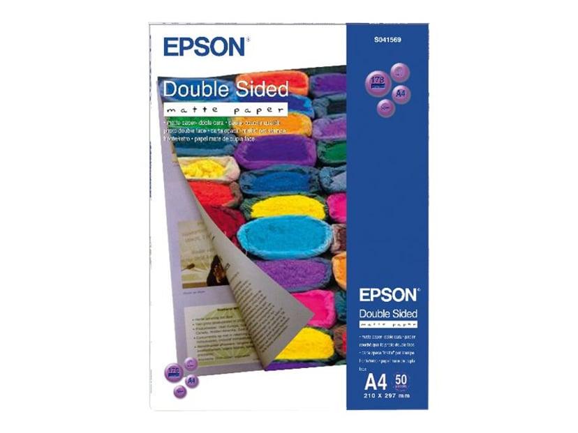 Epson Papir Double Sided Matt A4 50-Ark 178g