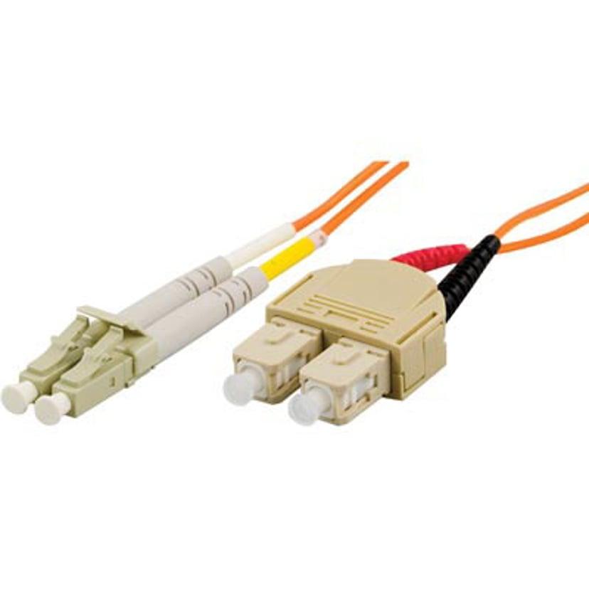 Deltaco Fiberoptisk Kabel SC/UPC LC/UPC OM1 15m