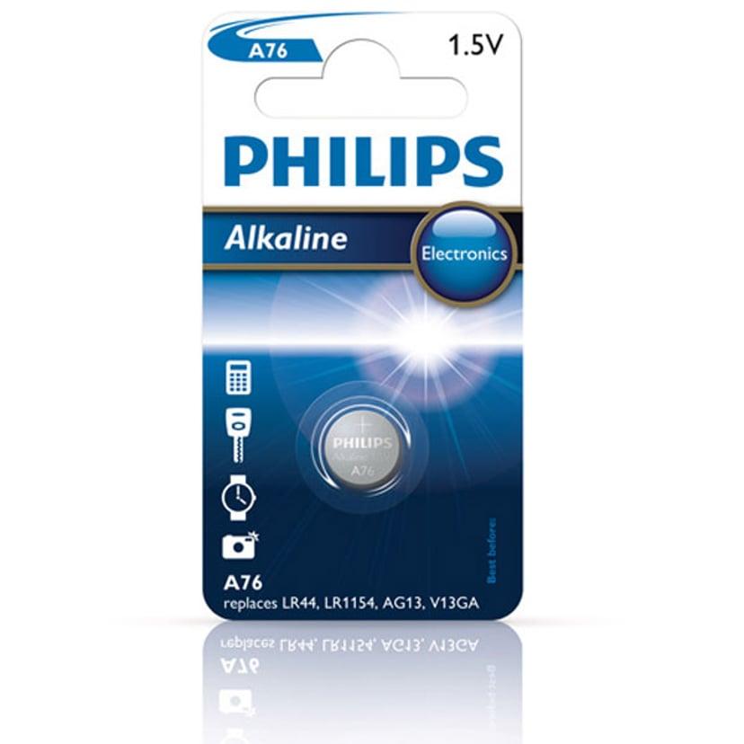 Philips Knappcell Batteri Alkaline 1,5V/LR44/LR1154/A76