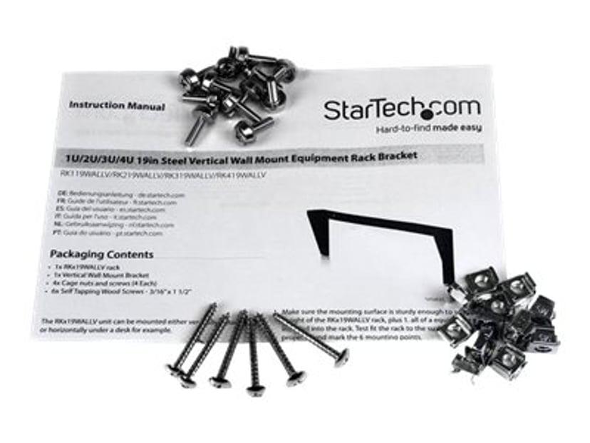 Startech 4U 19in Steel Vertical Wall Mount Equipment Rack Bracket