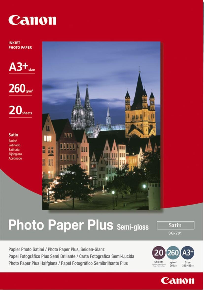 Canon Papper Photo+ Semi Glossy SG-201 A3+ 20-Ark 260g