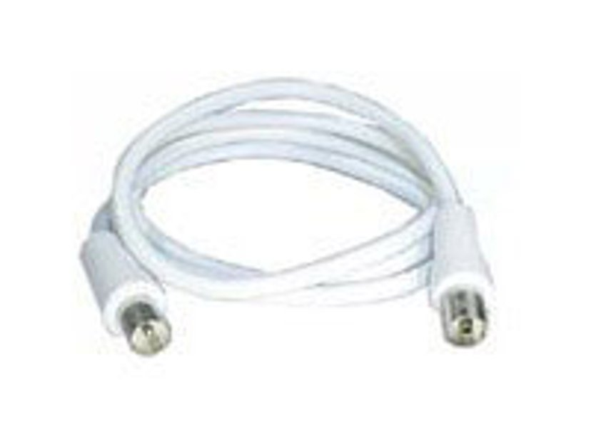 Deltaco Antenna cable 1m IEC-liitin Uros IEC-liitin Naaras