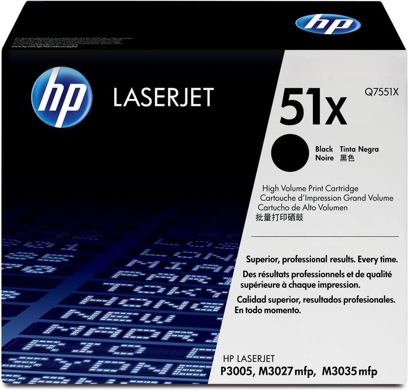 HP Toner Zwart 13K - Q7551X