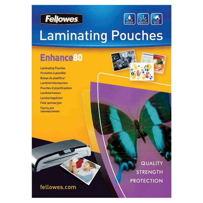 Fellowes Lamineringsficka 80mic A4 100st