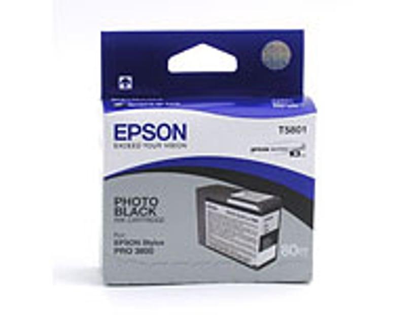 Epson Blekk Svart Foto T5801 - PRO 3800