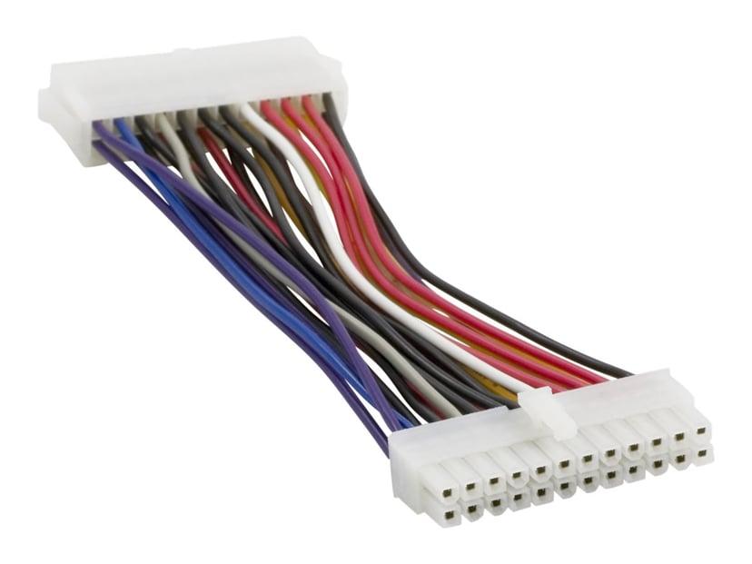 Deltaco Forlængerkabel til strøm 0.15m Strøm 24 pin ATX Hun Strøm 24 pin ATX Han