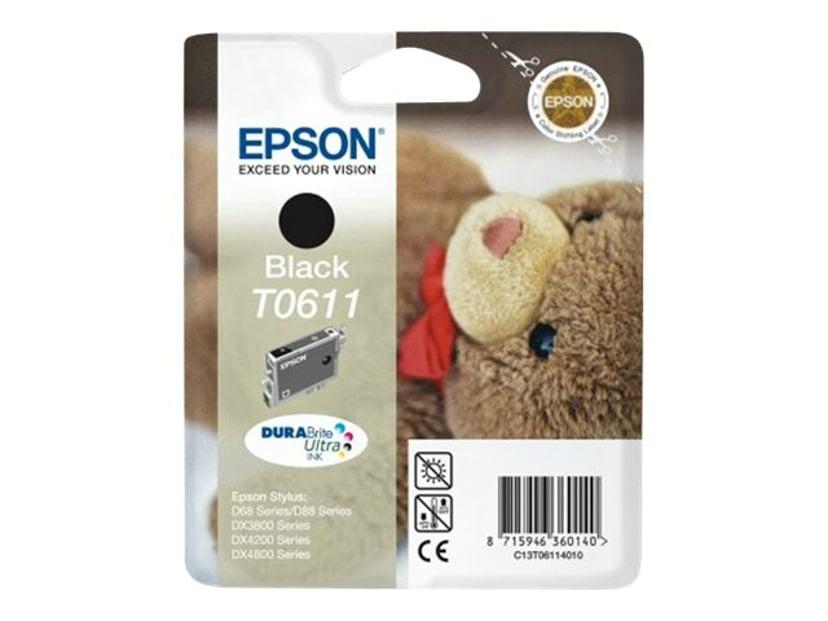Epson Blekk Svart T0611 D68/D88/DX4800/3800