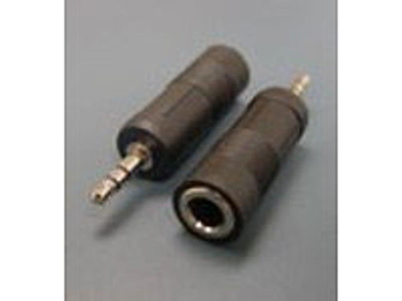Microconnect Adapter Mini-telefonstereo 3,5 mm Han Telefonstereo 6,3 Hun