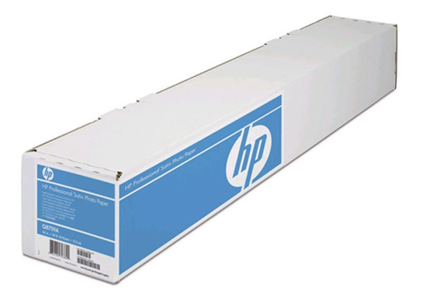 """HP Papper PRO Satin Photo 24"""" (610mm) A1 15,2m 300g Rulle"""