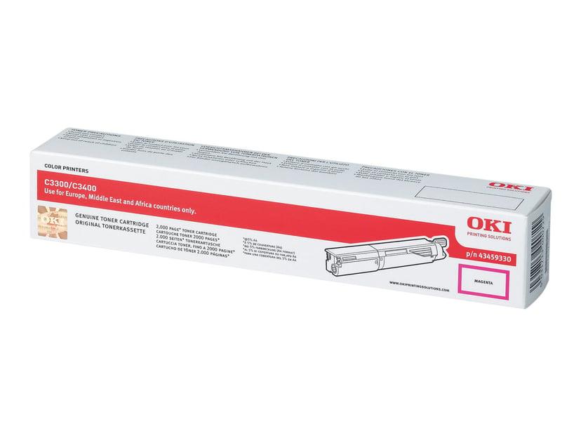 OKI Toner Magenta 2.5k - C3300/3450