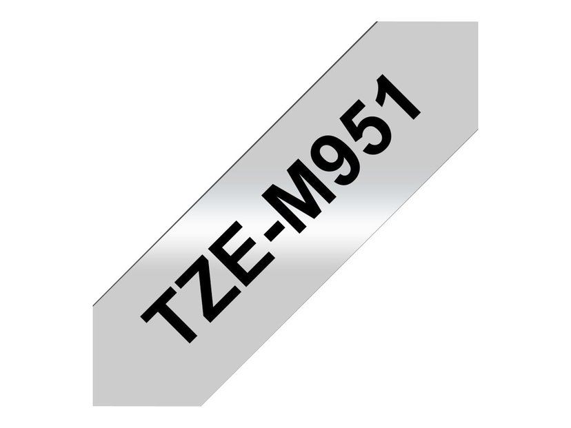 Brother Tape TZE-M951 24mm Sort/Silver