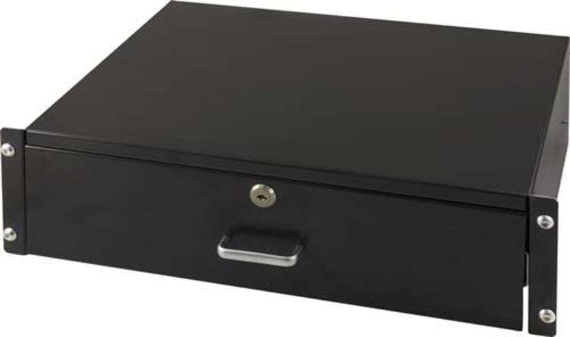 Toten Utdragbar låsbar låda för rackmontage 3U