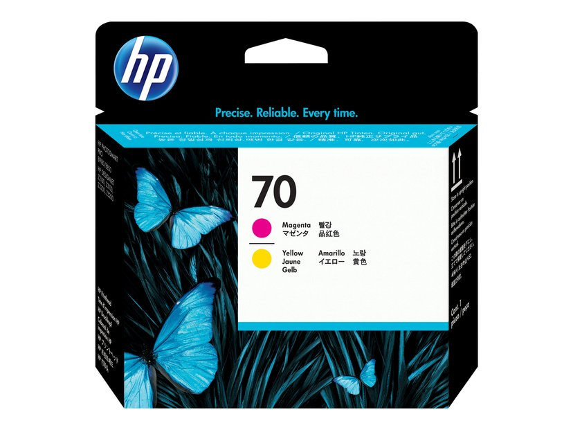 HP Printerhoved NO.70 Magenta & Gul - DJ Z2100