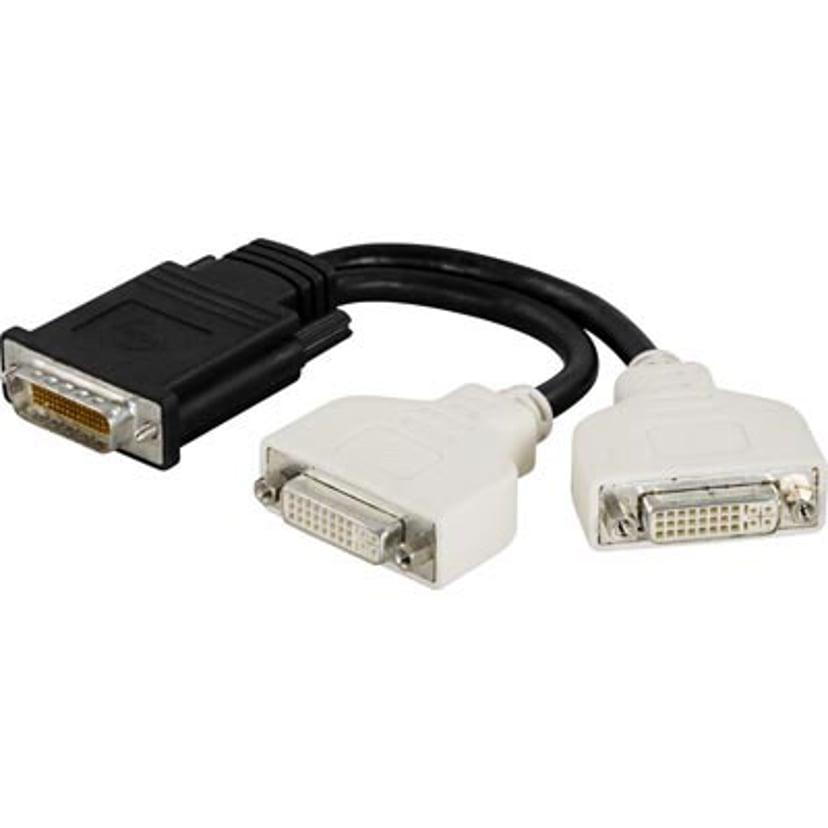 Deltaco Adapter 24+5 pin kombineret DVI Hun DMS-59 Han