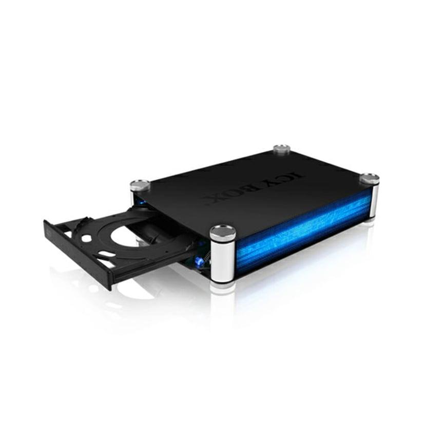 "Raidsonic Icy Box External Cabinet 1X5.25"" SATA To USB 3.0/ESATA"
