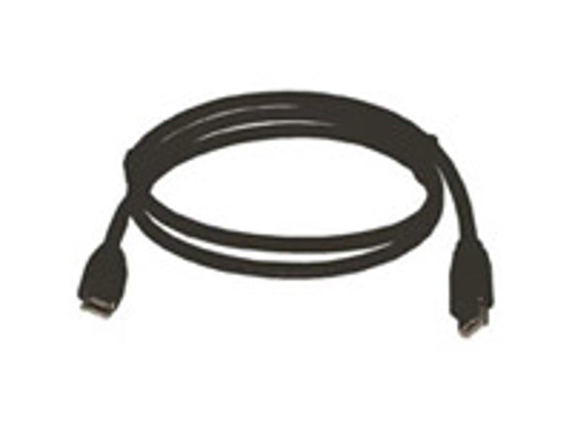 Deltaco IEEE 1394-kabel 2m 6 pin FireWire Hann 6 pin FireWire Hann