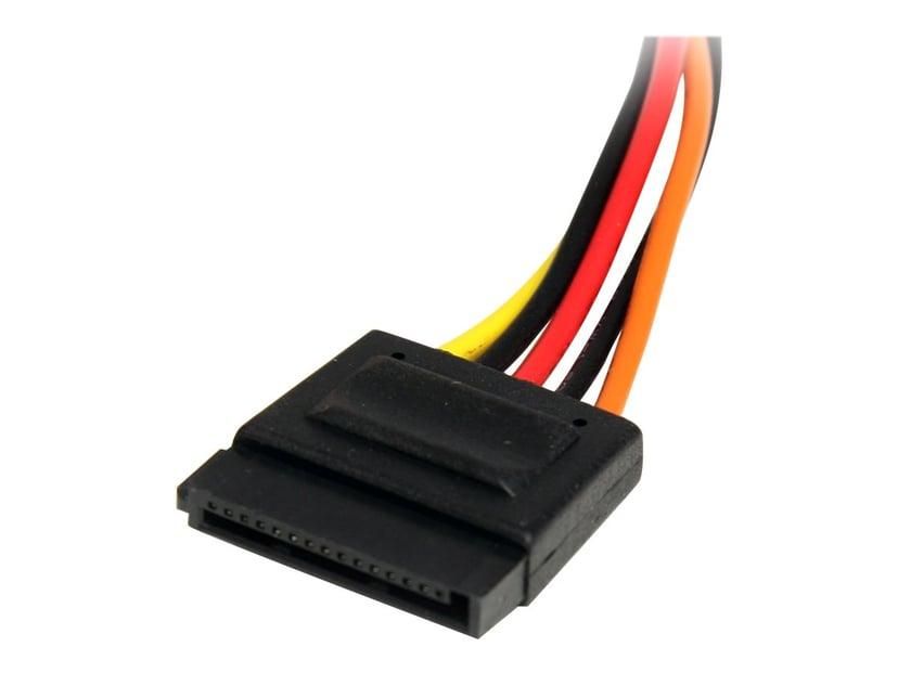 Startech 15 pin SATA Power Extension Cable 3,050m 15-stifts seriell ATA-ström Hane 15-stifts seriell ATA-ström Hona