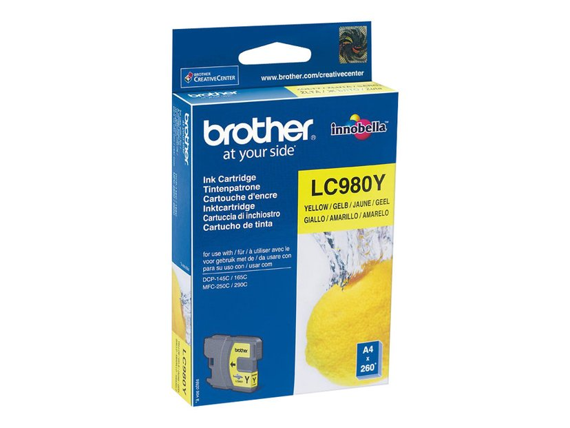 Brother Blæk Gul LC980Y - DCP-145C