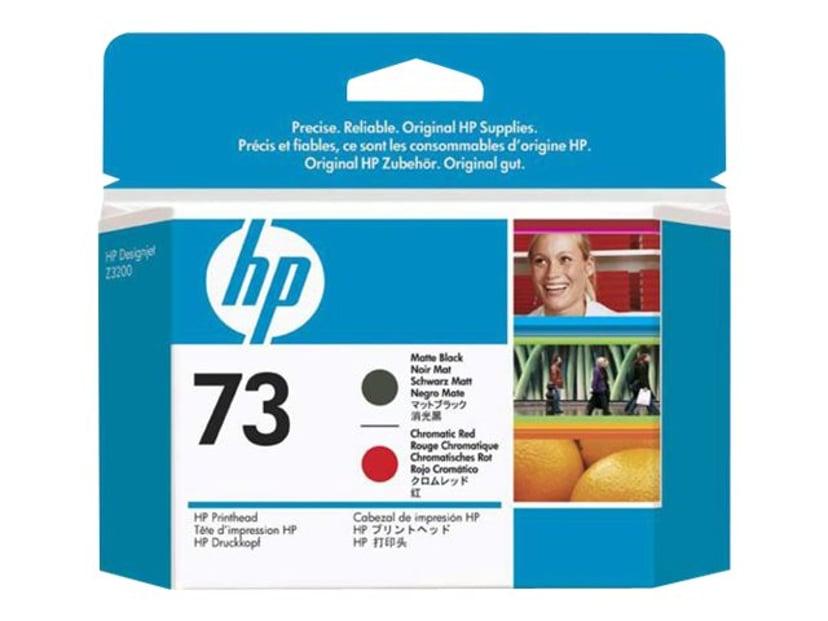 HP Printhead Matt Sort/Chrome Rød No.73