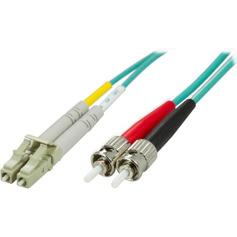 Deltaco Optisk fiberkabel LC/UPC ST/UPC OM3 10m