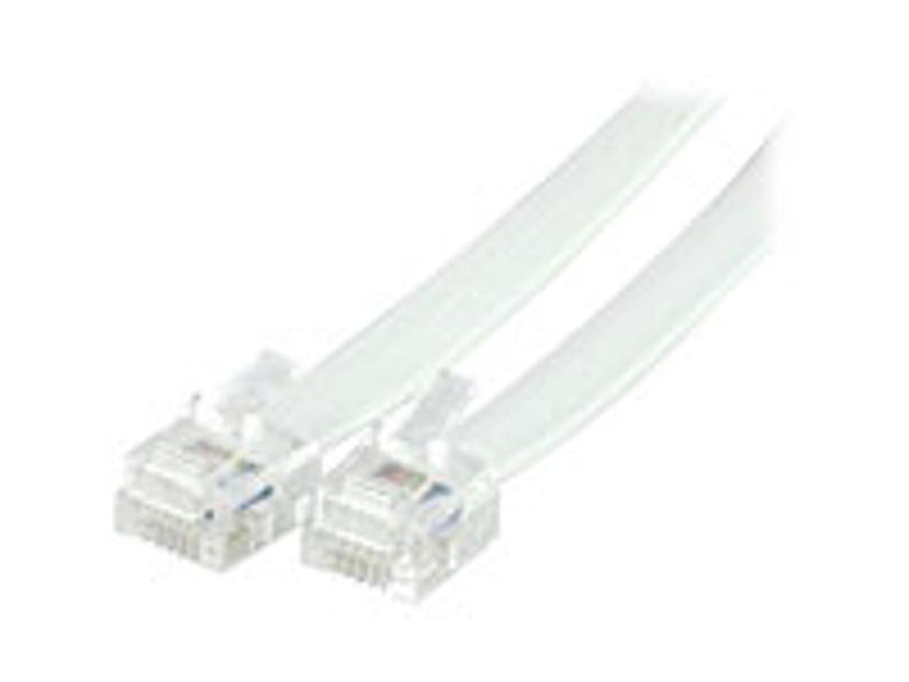 Deltaco Phone cable 2m RJ-12 Uros RJ-12 Uros