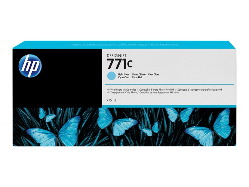 HP Bläck Ljus Cyan No.771C - DJ Z6200