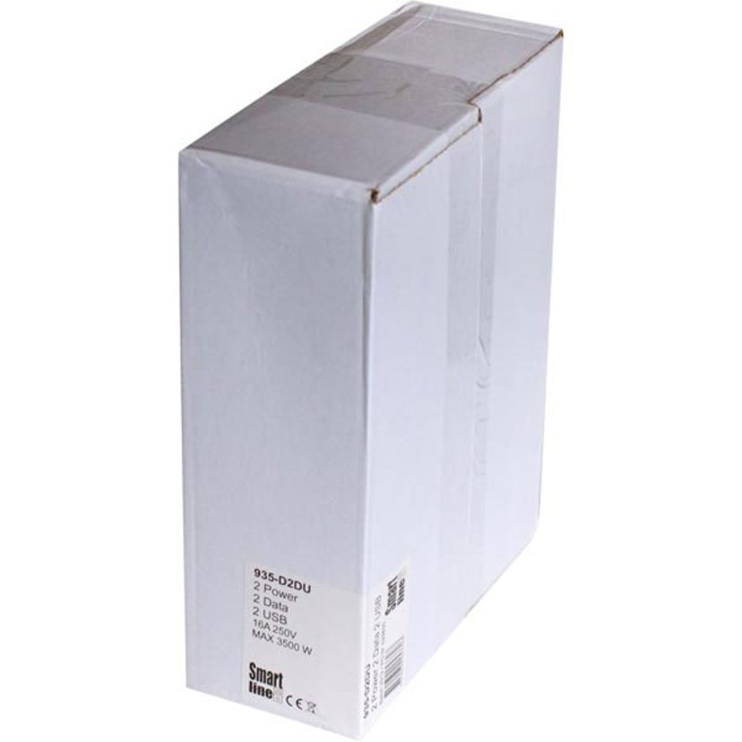 Kondator Smartline Desk, CEE 7/4/RJ45 Ho/USB Aluminium/Svart
