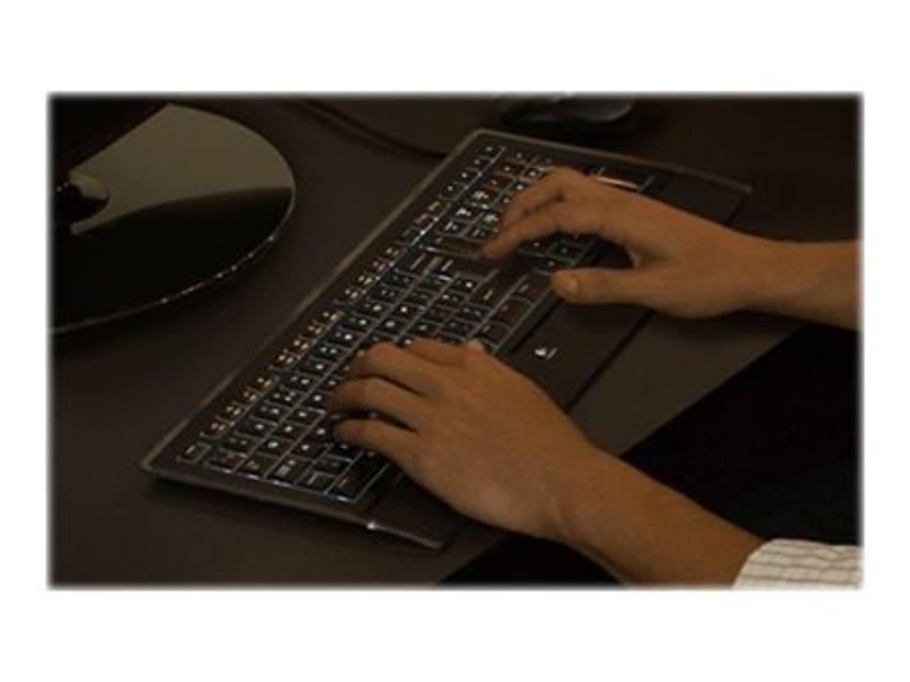 Logitech K740 Kabling Tastatur Nordisk Pan Nordic Sort
