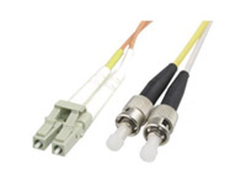 Deltaco Optisk fiberkabel LC/UPC ST/UPC OM1 2m