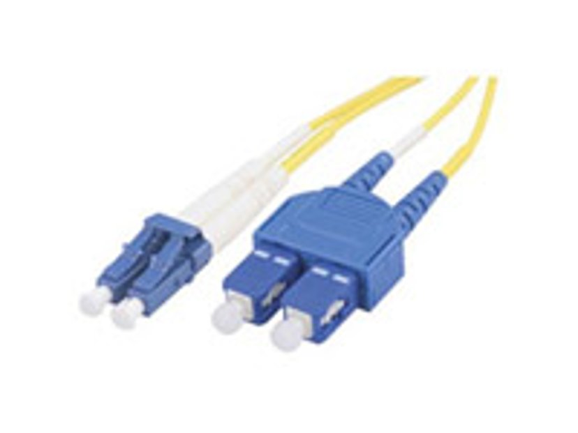 Deltaco Fiberoptisk kabel LC/PC SC/PC OS2 10m
