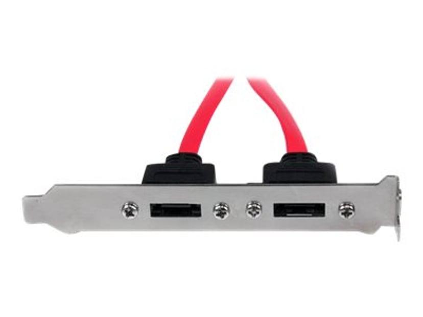 Startech 2 Port SATA To ESATA Slot Plate Bracket 7-pins seriell ATA Hunn 7-pins ekstern seriell ATA Hann 0.3m