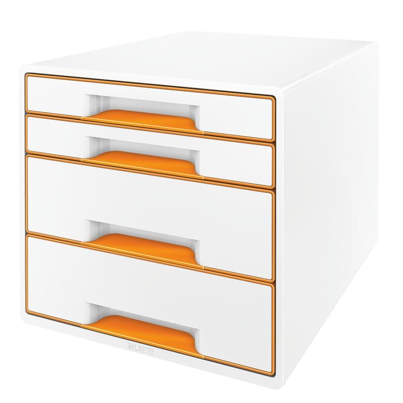 Leitz Bordskub Wow 4-Lådor Vit/Orange
