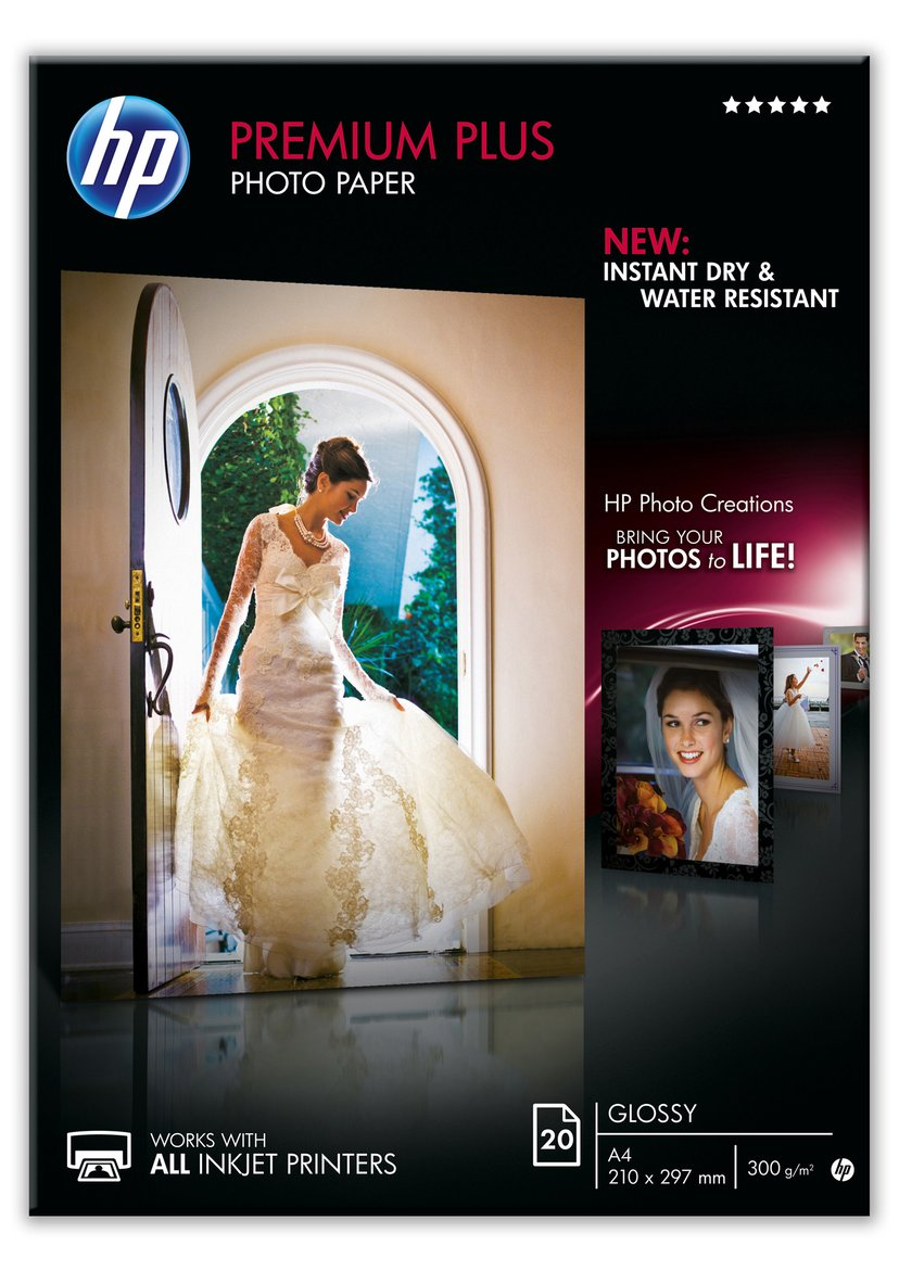 HP Papper Photo Premium PLUS Glossy A4 20-Ark 300g