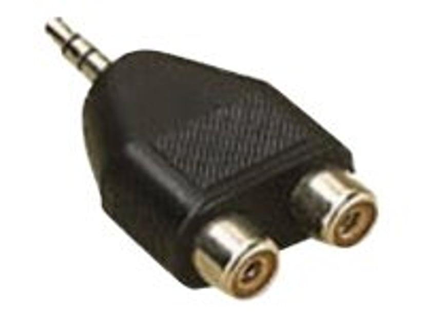 Microconnect Adapter RCA Hona Mini-phone stereo 3.5 mm Hane