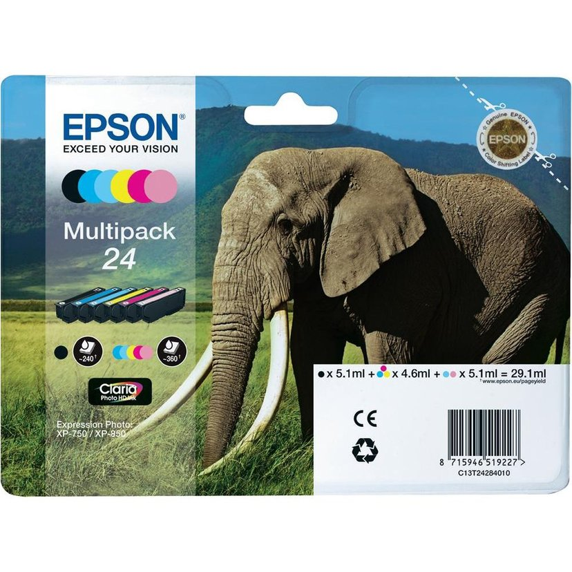 Epson Inkt Multipack 6-ColorS 24 Claria Foto HD