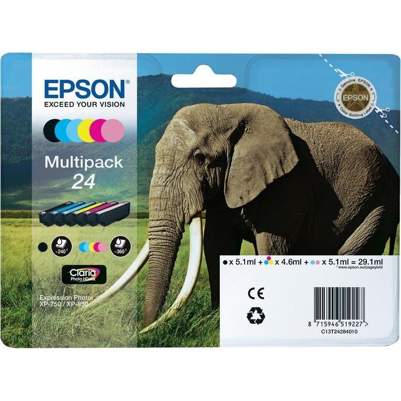 Epson Muste Monipakkaus 6-ColorS 24 Claria Kuva HD