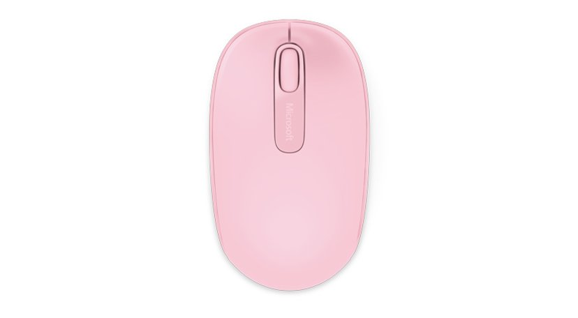 Microsoft Wireless Mobile Mouse 1850 Roze Muis Draadloos