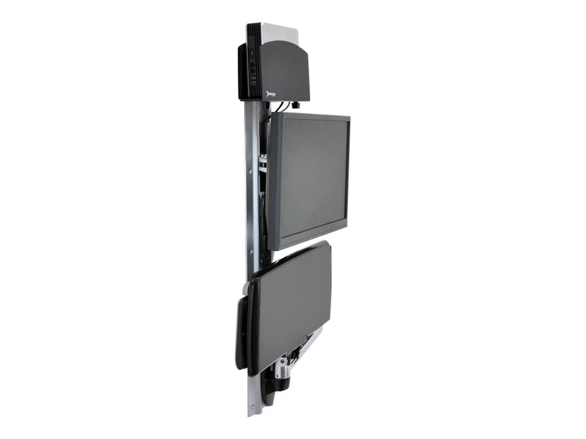 Ergotron Lx Wall Mount System With Small CPU Holder