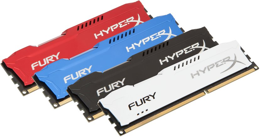 Kingston Hyperx Fury Black Series 16GB 1,600MHz DDR3 SDRAM DIMM 240-pin