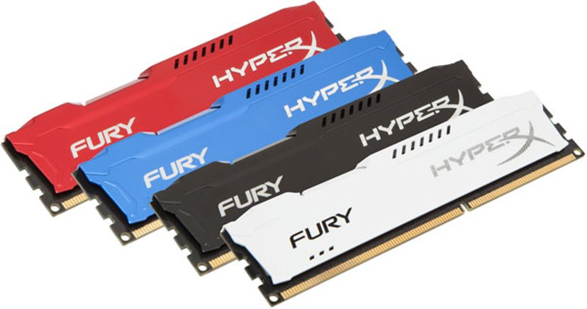 Kingston Hyperx Fury Red Series 4GB 1,866MHz DDR3 SDRAM DIMM 240-pin