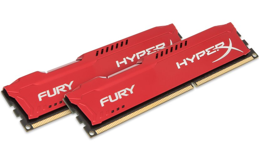 Kingston Hyperx Fury Red Series 16GB 1,600MHz DDR3 SDRAM DIMM 240-pin