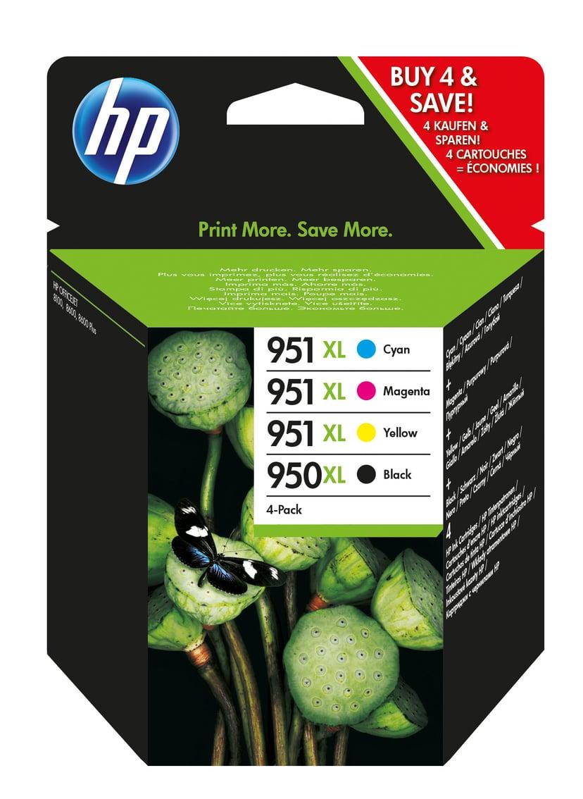 HP Bläck Kit (C/M/Y/K) 950XL/951XL - OfficeJet 276DW/8100/8610/8620