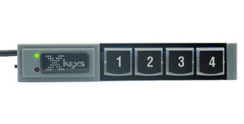 Direktronik XKeys Xk4 USB Stick Keys With 4 Programmable Keys Kabelansluten Tangentsats